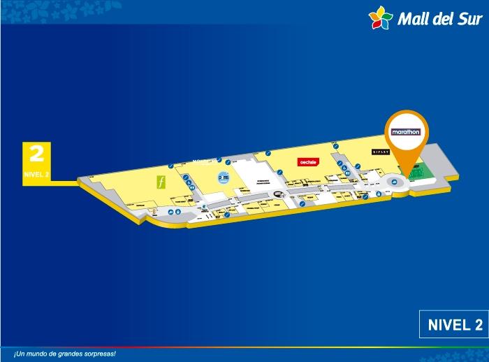 MARATHON - Mapa de Ubicación - Mall del Sur
