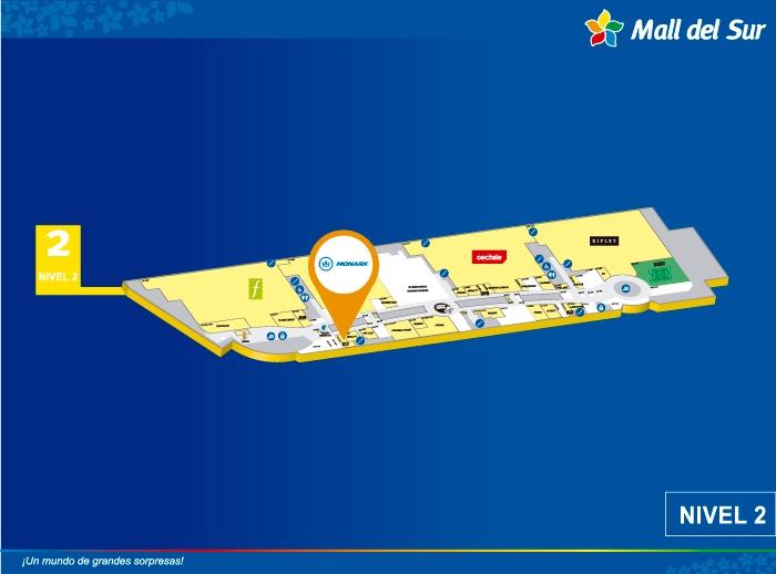 MONARK - Mapa de Ubicación - Mall del Sur