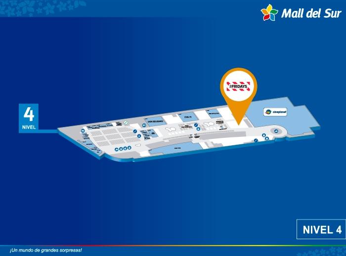 FRIDAY'S - Mapa de Ubicación - Mall del Sur