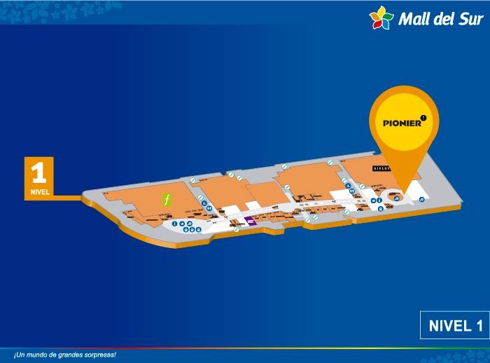 PIONIER - Mapa de Ubicación - Mall del Sur
