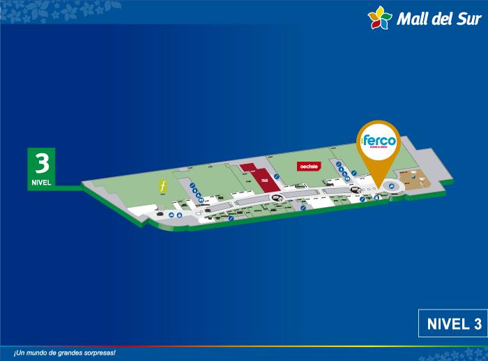 FERCO - Mapa de Ubicación - Mall del Sur