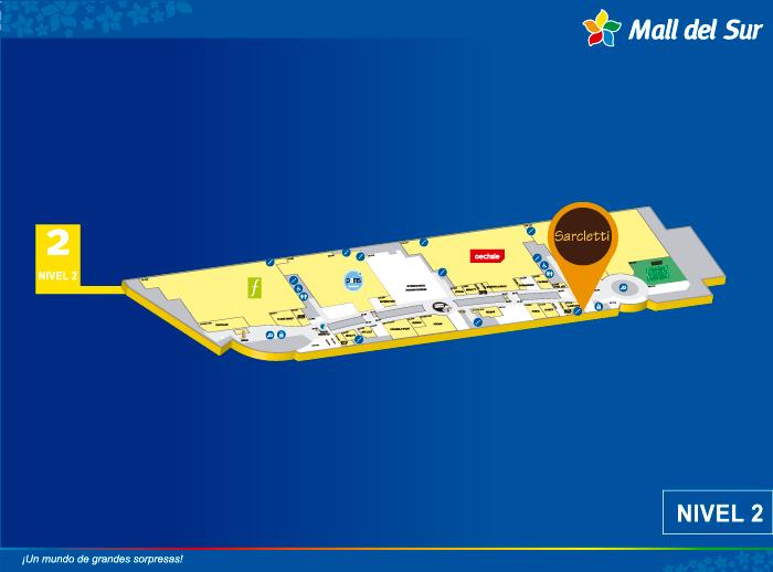 SARCLETTI - Mapa de Ubicación - Mall del Sur