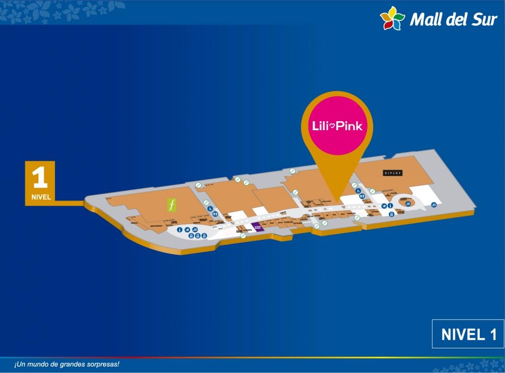 LILI PINK   - Mapa de Ubicación - Mall del Sur