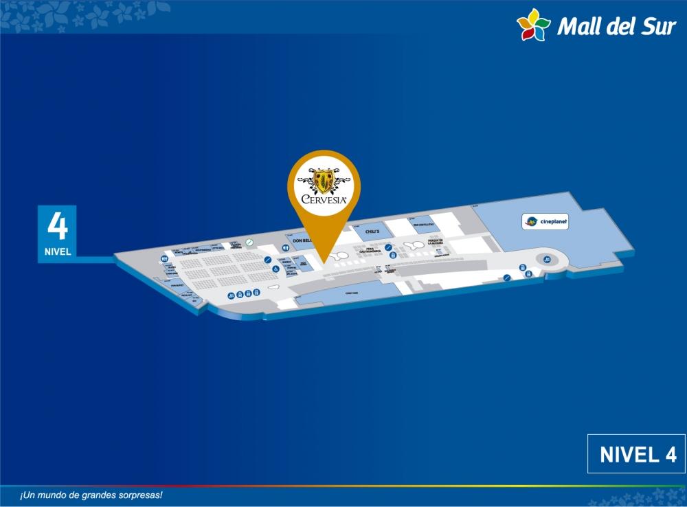 CERVESIA - Mapa de Ubicación - Mall del Sur