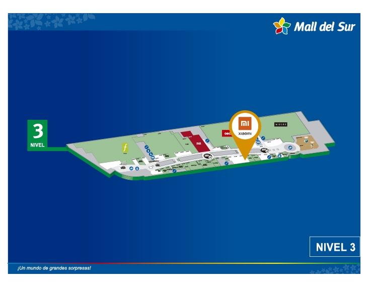 XIAOMI - Mapa de Ubicación - Mall del Sur