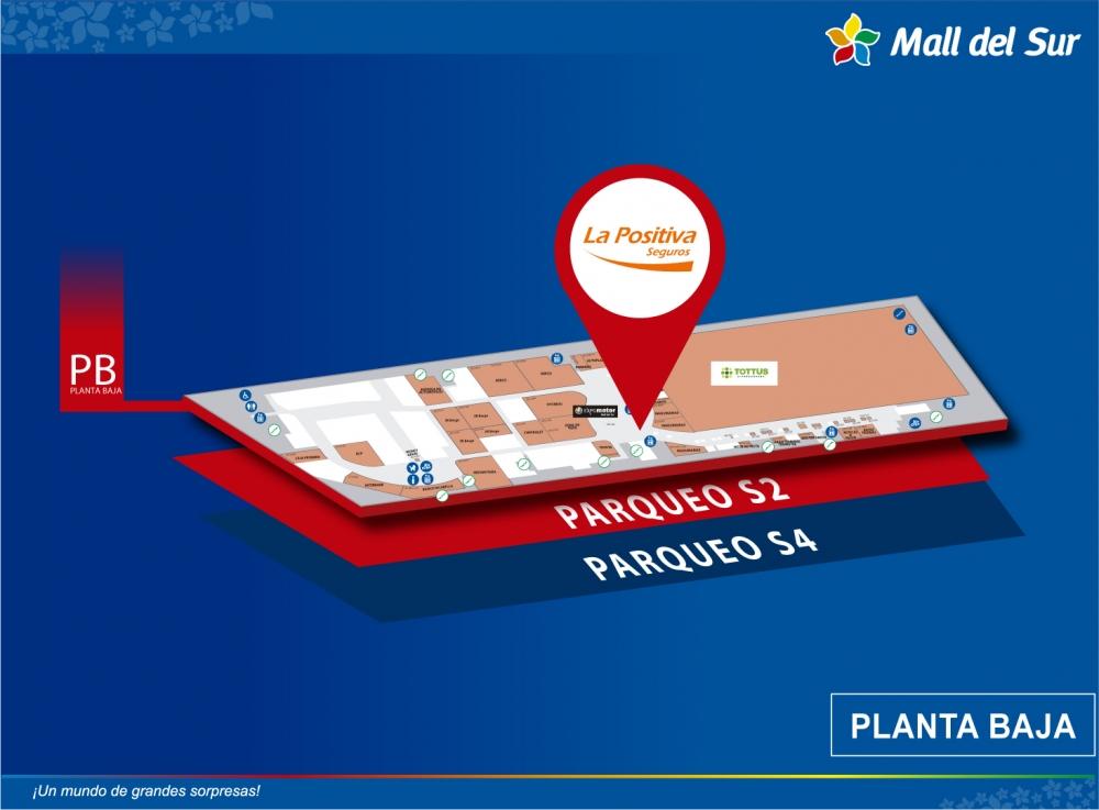 LA POSITIVA - Mapa de Ubicación - Mall del Sur
