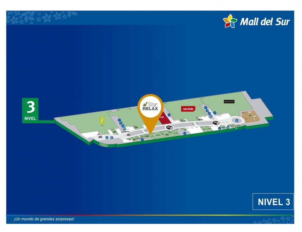 STAR RELAX - Mapa de Ubicación - Mall del Sur