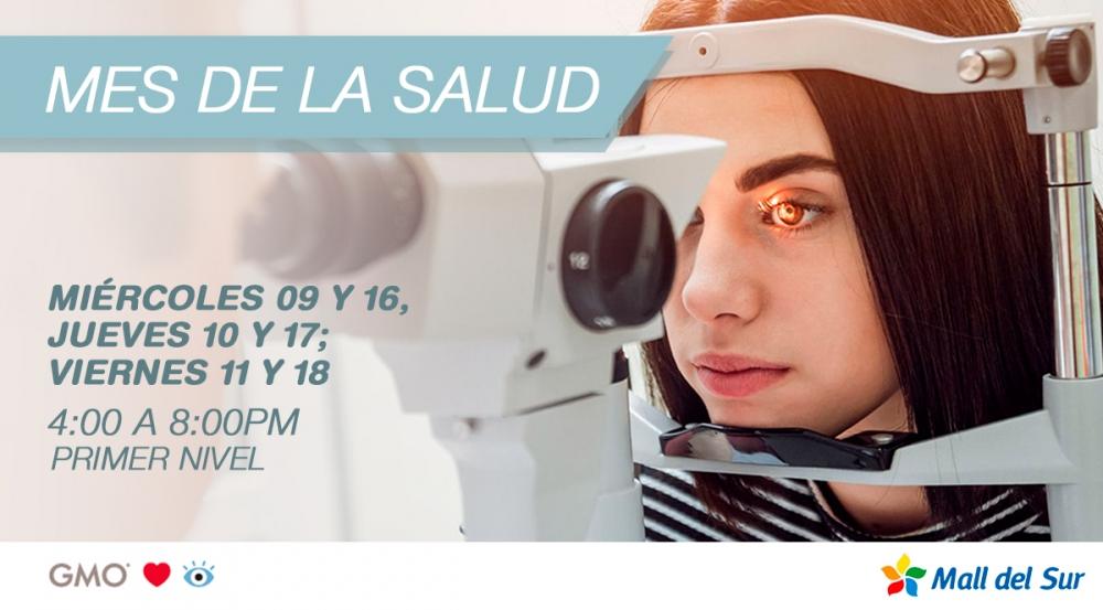 MES DE LA SALUD VISUAL - DESPISTAJE CON GMO - Mall del Sur