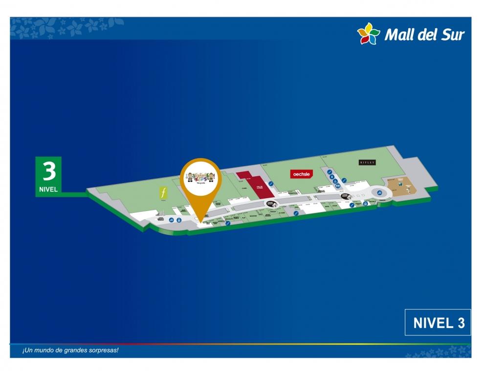 SAFARI KIDS - Mapa de Ubicación - Mall del Sur