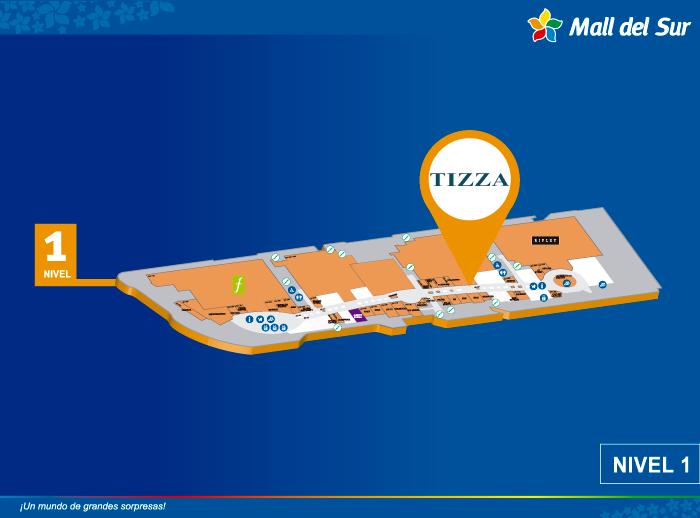 TIZZA - Mapa de Ubicación - Mall del Sur