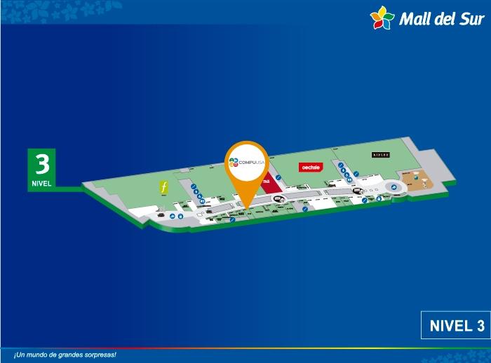 COMPUUSA - Mapa de Ubicación - Mall del Sur