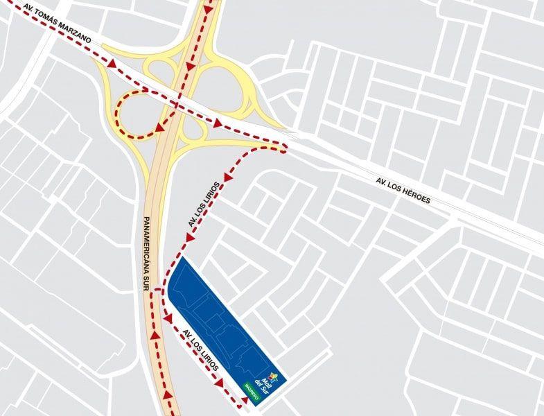 Mall del Sur - Mapa de Ubicación