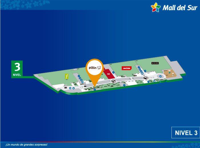 PILLÍN - Mapa de Ubicación - Mall del Sur