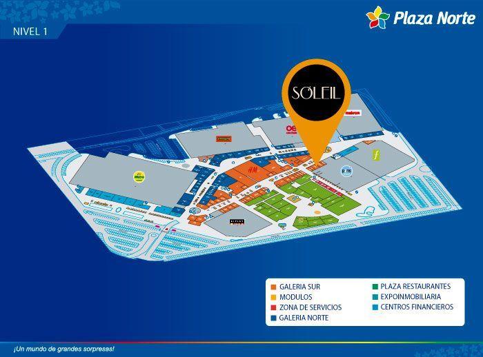Soleil - Mapa de Ubicación - Mall del Sur