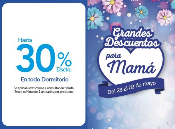 HASTA 30% DSCTO. EN TODO DORMITORIO CASAIDEAS - Mall del Sur