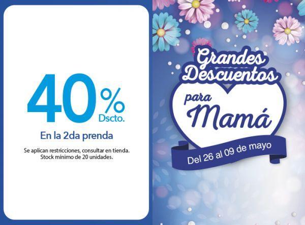 40% DSCTO. EN LA 2DA PRENDA KAYSER - Mall del Sur