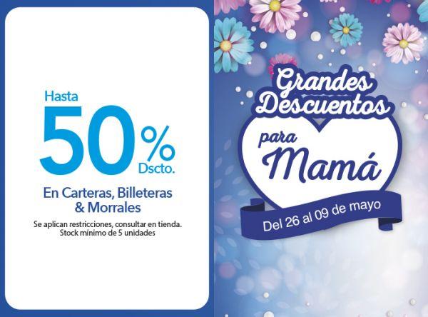 HASTA 50 % DSCTO. EN CARTERAS, BILLETERAS & MORRALES MIKAELA - Mall del Sur