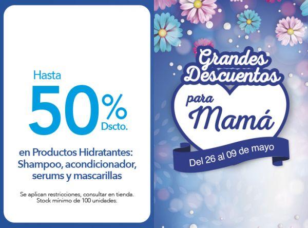 HASTA 50% DSCTO. EN PRODUCTOS HIDRATANTES: SHAMPOO, ACONDICIONADOR , SERUMS Y MASCARILLAS. Soleil - Mall del Sur