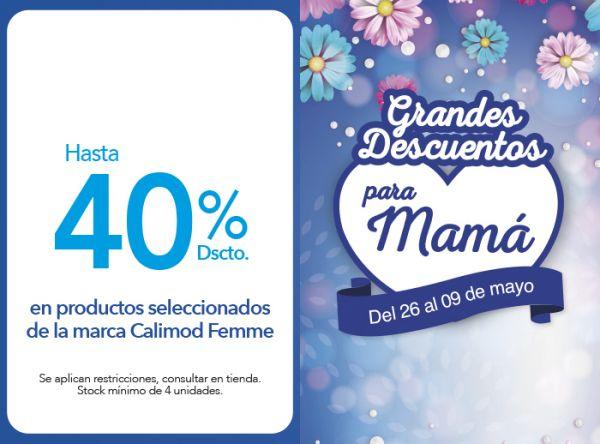 HASTA 40% DSCTO EN PRODUCTOS SELECCIONADOS DE LA MARCA CALIMOD FEMME Calimod - Mall del Sur