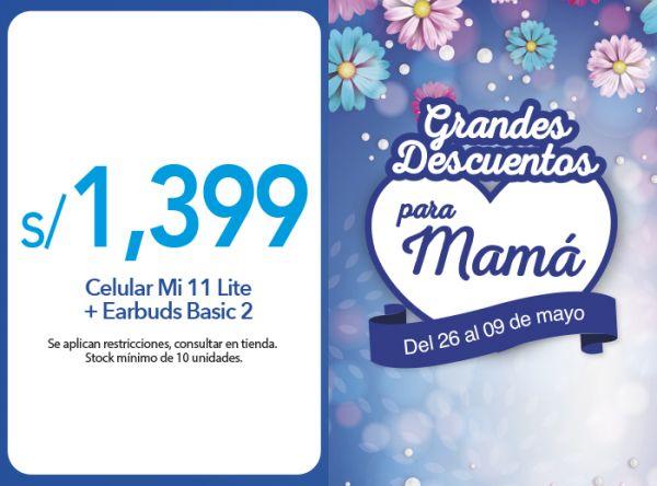CELULAR MI 11 LITE + EARBUDS BASIC 2 S/ 1399.00 - Plaza Norte