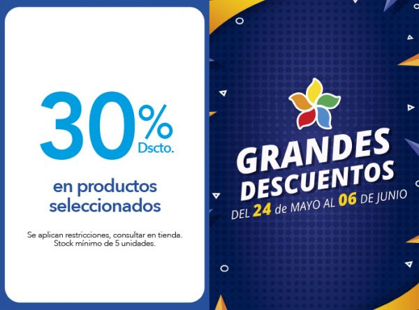 30% DSCTO. EN PRODUCTOS SELECCIONADOS - Plaza Norte
