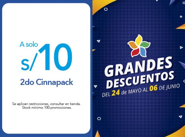 2DO CINNAPACK A S/ 10.00 - Plaza Norte