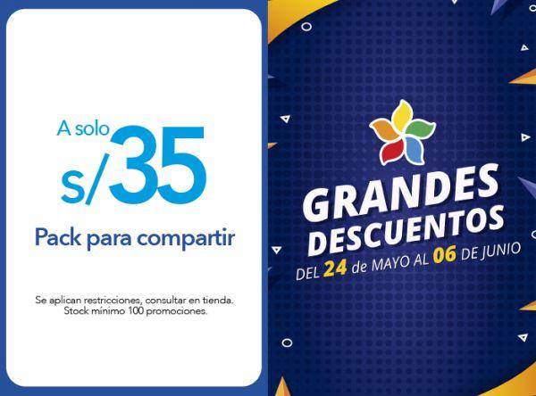 PACK PARA COMPARTIR A S/ 35.00 - Plaza Norte