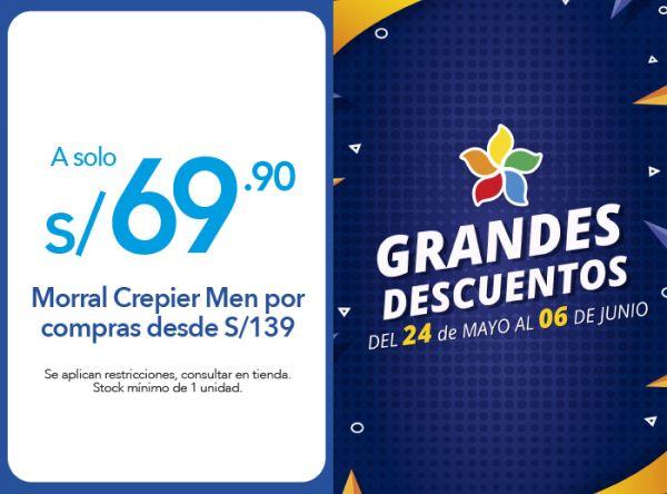 MORRAL CREPIER MEN A S/ 69.00 POR COMPRAS DESDE S/ 139.00 - Plaza Norte