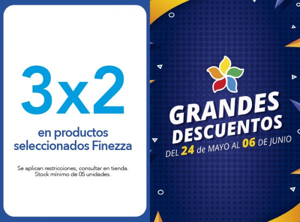 3X2 EN PRODUCTOS SELECCIONADOS FINEZZA - Plaza Norte
