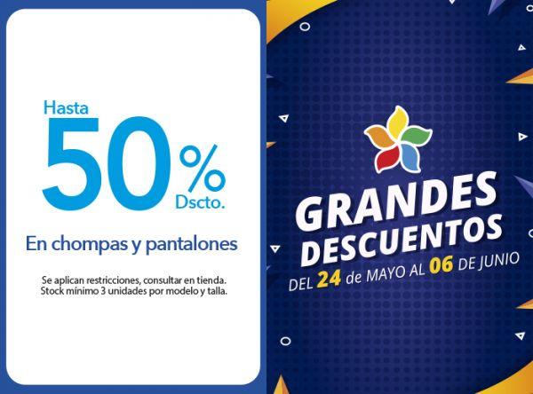 HASTA 50% DSCTO.EN CHOMPAS Y PANTALONES - Plaza Norte