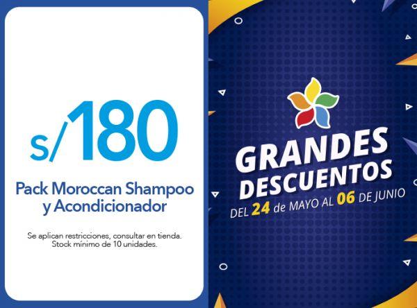 PACK SHAMPOO Y ACONDICIONADOR MOROCCAN A S/ 180.00 - Plaza Norte