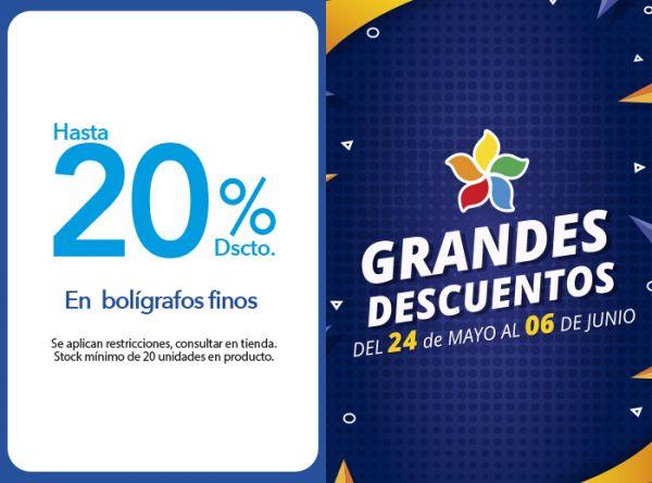 HASTA 20% DSCTO. EN BOLÍGRAFOS FINOS - Plaza Norte