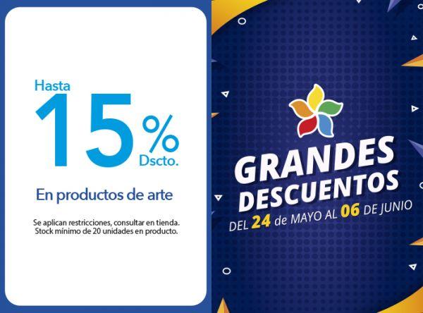 HASTA 15% DSCTO. EN PRODUCTOS DE ARTE. - Plaza Norte