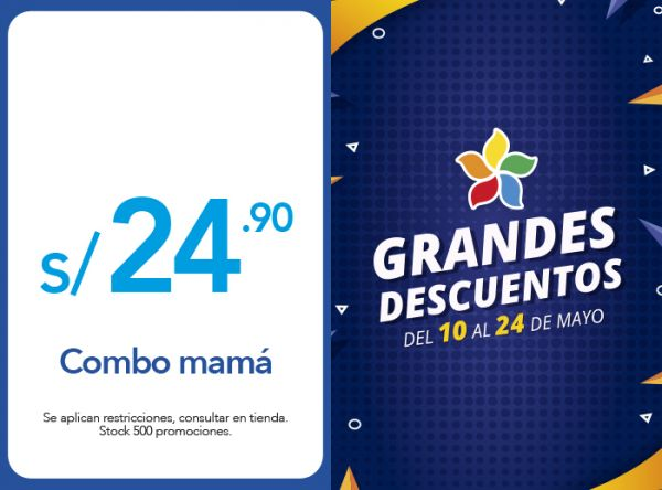 COMBO MAMÁ A S/24.90 Bembos - Mall del Sur