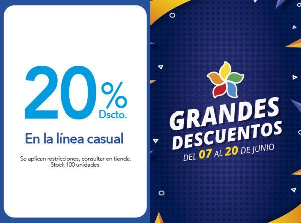 20% DSCTO. EN LA LÍNEA CASUAL - Plaza Norte