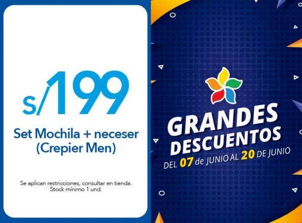 SET MOCHILA + NECESER A S/199 (CREPIER MEN) - Plaza Norte
