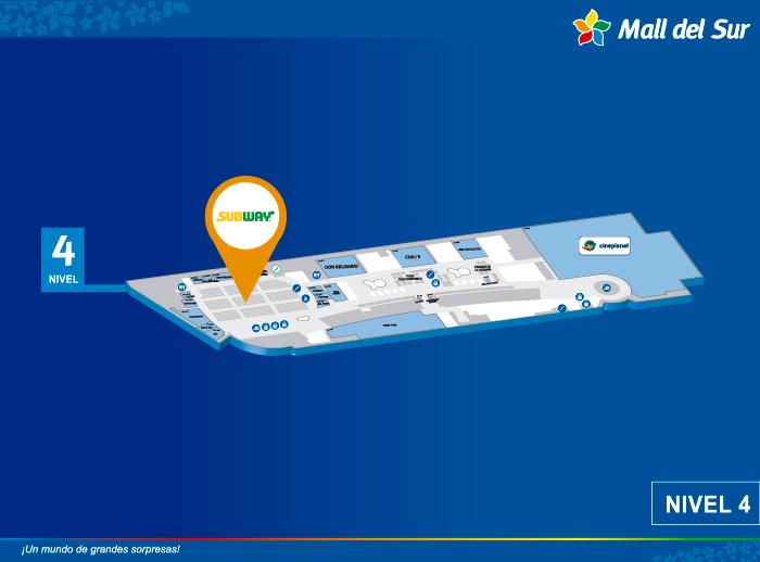 Subway - Mapa de Ubicación - Mall del Sur