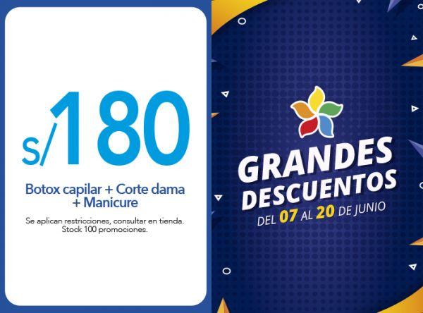BOTOX CAPILAR + CORTE DAMA + MANICURE A S/180.00 - Plaza Norte