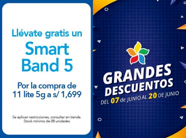 POR LA COMPRA DE 11 LITE 5G A S/ 1,699.00 LLEVATE DE REGALO UN SMART BAND 5 - Plaza Norte