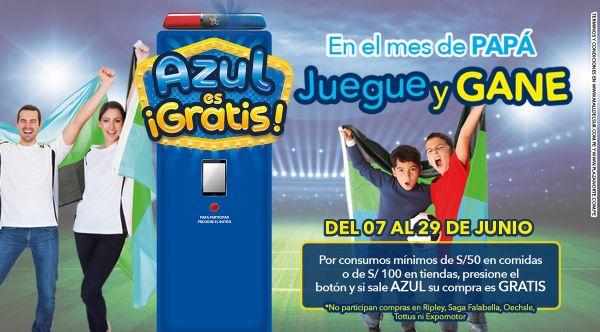 """Promoción """"Azul es Gratis""""- Día del Padre - Mall del Sur"""
