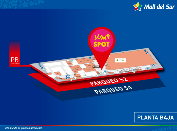JUMP SPOT - Mapa de Ubicación - Mall del Sur